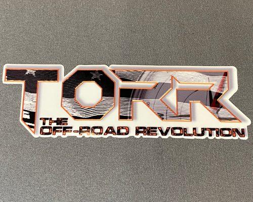 "Torr Flag & Compass 6"" Decal Copper Outline"