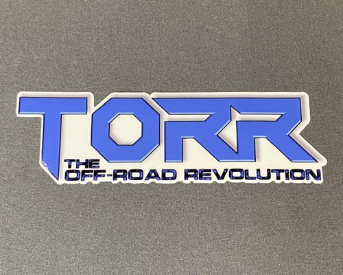 """TORR Solid Blue 6"""" Decal"""