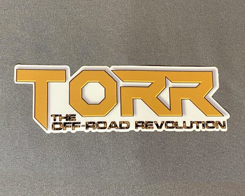 """TORR Solid Gold 6"""" Decal"""