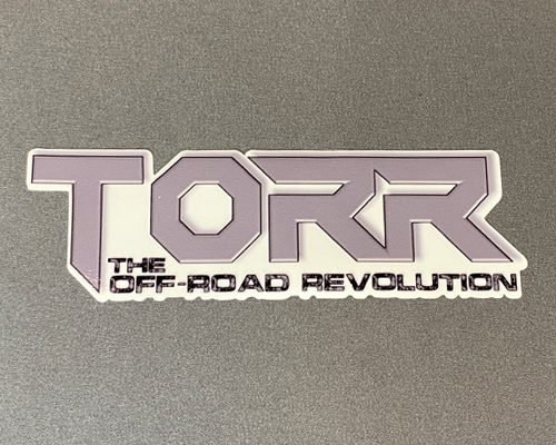 "TORR Solid Gray 6"" Decal"