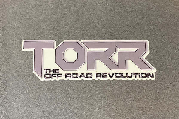 """TORR Solid Gray 6"""" Decal"""