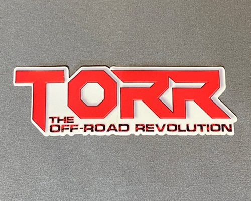 "TORR Solid Red 6"" Decal"
