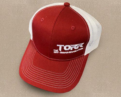 Torr Hat Red & White