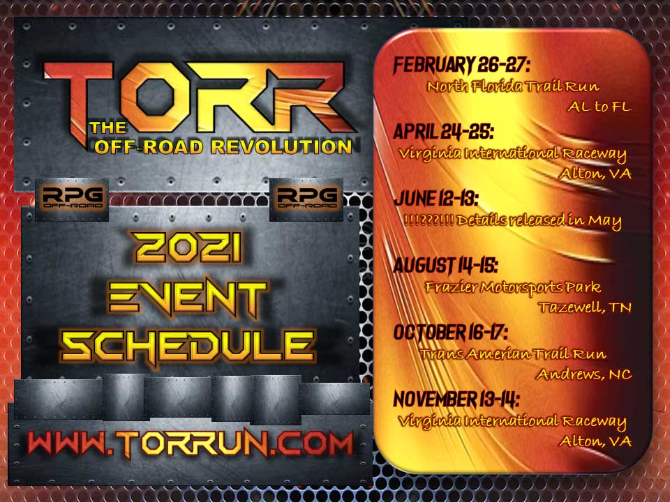 2021 Torr Run Event Schedule