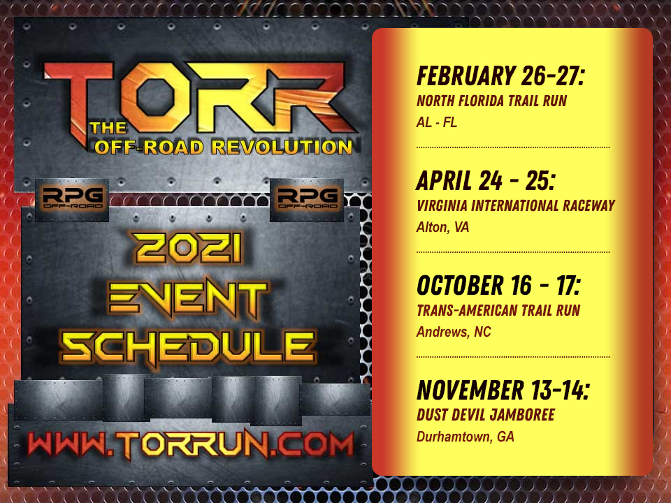 2021 Torr Run Event Schedule